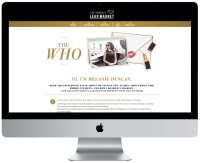 Melanie Duncan - Sales page The Perfect Lead Magnet